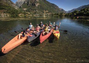 Una tarde en canoa en el embalse de Eriste con los Guías el RunValle de Benasque