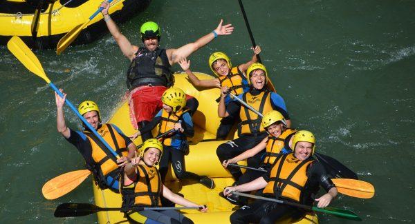 Rafting en el río Esera